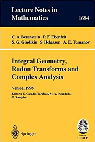 Integral Geometry Radon Transforms And Complex Analysis