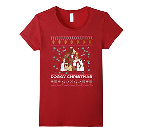 Cranberry Lovers Gift (Womens Doggy Christmas T-shirts Dogs Lover Ugly Sweater Gifts Funny Small Cranberry)