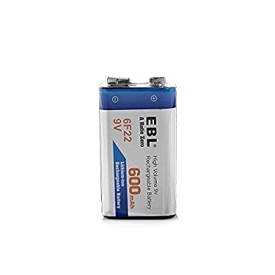 EBL 600mAh 9 Volt Li-ion Rechargeable 9V Battery Lithium-ion