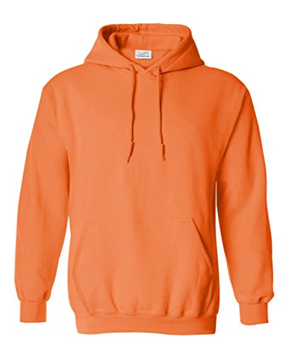 Joe's USA Hoodies Soft & Cozy Hooded Sweatshirt,Medium Neon Orange