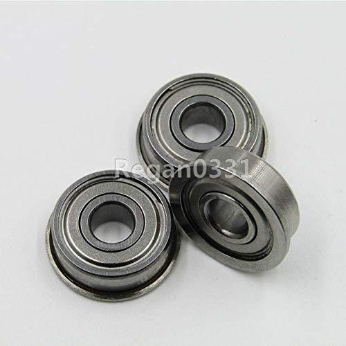 FidgetFidget Metal Shielded Flanged Ball Bearings 6 x 17 x 6mm New 10 pcs F606ZZ -