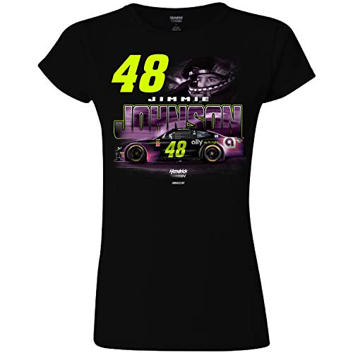 - Checkered Flag Ladies Jimmie Johnson 2019 Ally Profile #48 NASCAR T-Shirt (Medium - Misses 8/10) Black