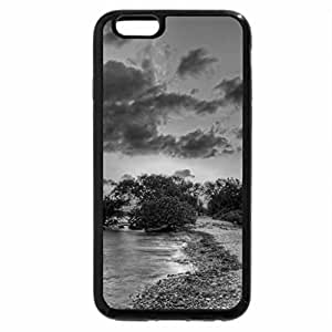iPhone 6S Case, iPhone 6 Case (Black & White) - sunset on a sandbar hdr