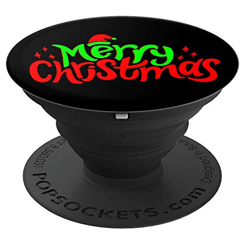 Cool Funny Merry Christmas Santa Hat Star Sweater Jumper PopSockets Grip and Stand for Phones and Tablets