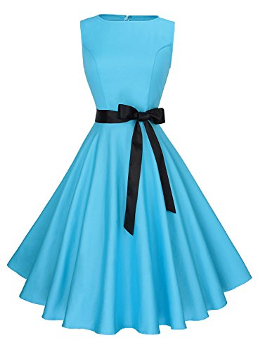 blue 60s dress - 1