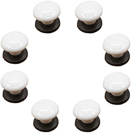 commode commode tiroirs armoires placards 8/pcs Blanc en porcelaine en c/éramique Boutons de tiroir//poign/ées///à partir pour armoires de cuisine vintage DIY Home d/écoratifs TM Fbshop etc Bin
