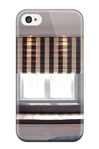 New Shockproof Protection Case Cover For Iphone 4/4s/ Window Seat In Child8217s Bedroom With Brown And White Striped Shade Case Cover