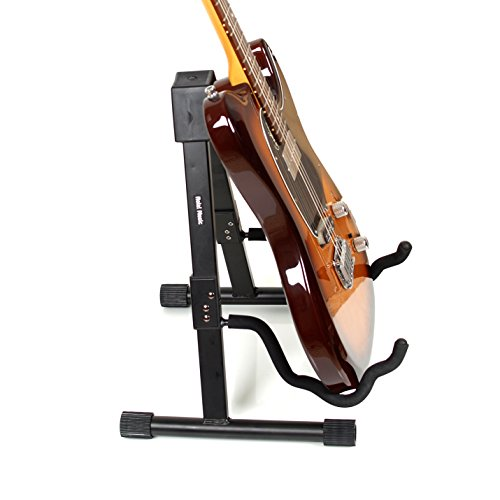 hola music heavy duty folding a frame universal guitar stand fits acoustic classical. Black Bedroom Furniture Sets. Home Design Ideas