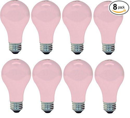 GE 97483 Light 60w, Soft (8 Bulbs), Pink - - Amazon.com