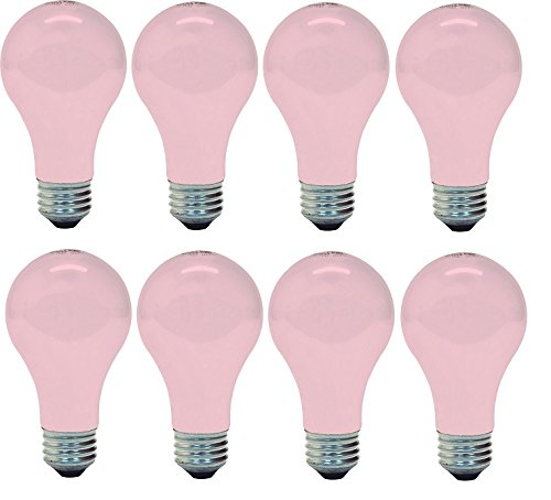 (GE 97483 Light, 60w, Soft Pink (8 Bulbs))