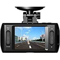 "Dash Cam Dashboard Camera Recorder with Full HD 1080P, 140° Wide Angle Lens, 2.4"" LCD and Night Vision Loop Recording"