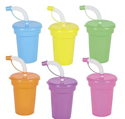 Rhode Island Novelty Neon Sipper Cups - 12 per Order -