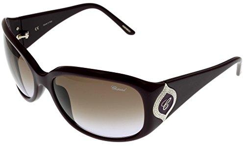 Chopard Sunglasses Shiny Plum Women SCH 091S 09FD Rectangular ()