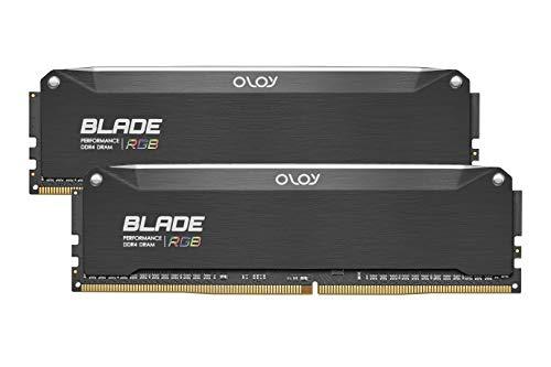 OLOy DDR4 RAM 32GB (2x16GB) Blade Aura Sync RGB 3600 MHz CL18 1.35V 288-Pin Desktop Gaming UDIMM (MD4U1636181DRKDE)