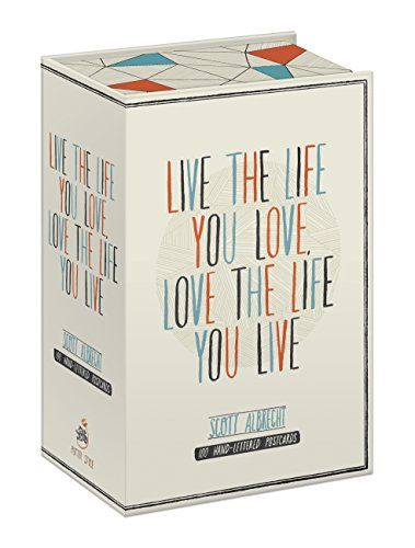 Live the Life You Love Postcard Box: 100 HAND-LETTERED POSTCARDS