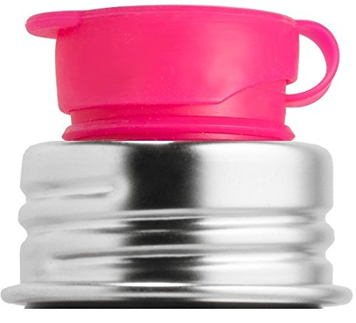 Pura Big Mouth Silicone Sport Top, Pink (Plastic Free, Nontoxic Certified, Bpa Free)