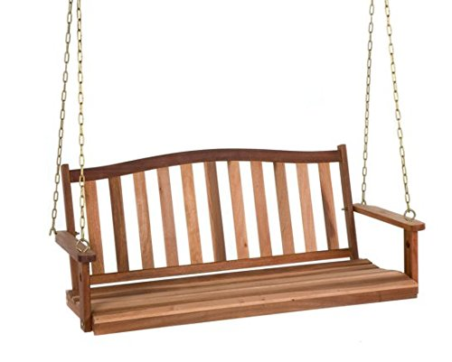 4 FT Length Belham Living Richmond Curved Back Porch Swing For Sale