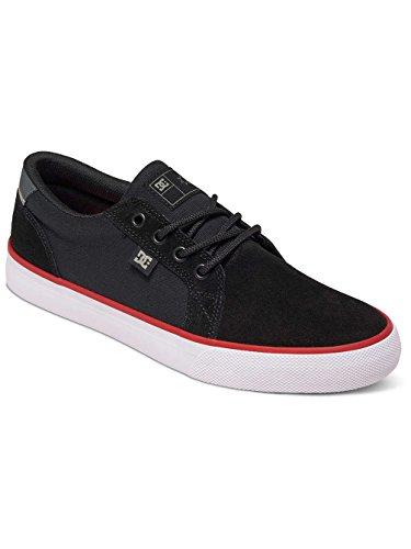 DC Council S - Zapatillas de skateboarding de ante para hombre gris Light Grey 39 Black/White/Red