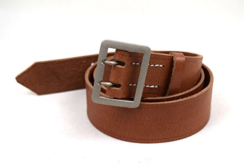 Replica WWII German Vintage Officer Double Claw Wehrmacht Belt Brown