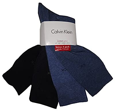 Calvin Klein Men's Classic Dress Socks 4-Pack