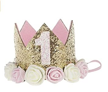 Landsell New Baby Kopfschmuck Kind Rose Crown Haarband