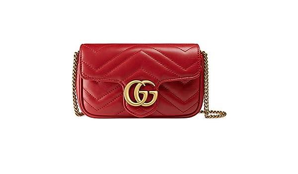 a4bbd3f5db4 Amazon.com: Gucci GG Marmont Matelasse Leather Super Mini Bag Handbag  Article:476433 DSVRT 6433: Shoes