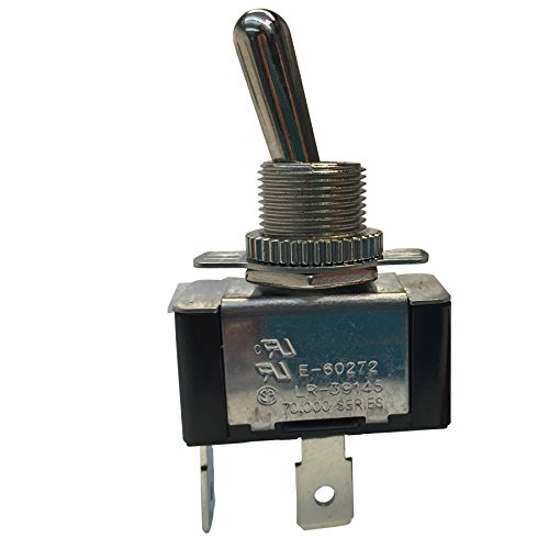 Gardner Bender GSW-121  Heavy-Duty Electrical Toggle Switch, SPST, ON-OFF,  20 A/125V AC, Spade Terminal ()