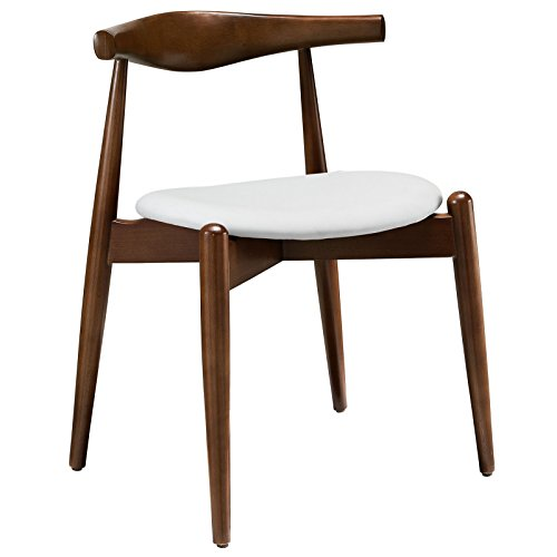 Modway Stalwart Beechwood Mid-Century Dining Chair With