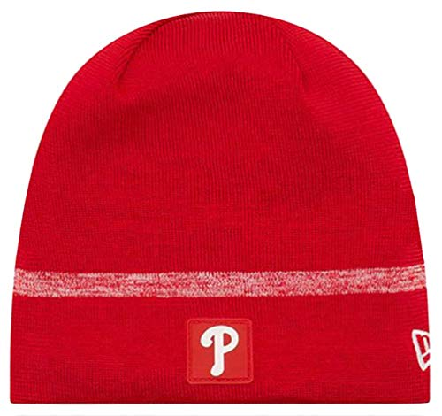 New Era MLB Philadelphia Phillies Clubhouse Stocking Knit Hat Beanie Skull Cap Red