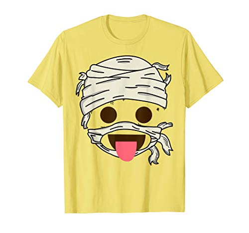 Mummy Food Savoring Tongue Face Emoji Smiley Halloween Gift T-Shirt -