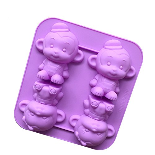 4-little-monkey-body-shape-silicone-fondant-cake-mold-chocolate-soap-candle-mould