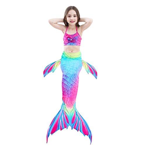 con Dh02 sirena scintillante di coda bagno da monopinna per SAIANKE nuotare q8PTwpv