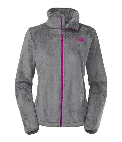 Women's The North Face Osito 2 Jacket Mid Grey/Luminous Pink Size XX-Large