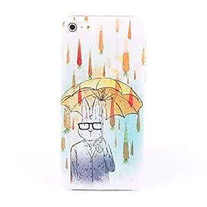 Rabbit with Umbrella Pattern Hard Case for iPhone 5/5S
