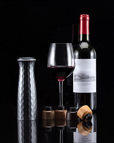 Electric Wine Saver Stopper Set: Mumba Wine Vacuum Sealer with Accessories - Automatic Air Seal Pump Machine and 4 Reusable Stoppers - Bottle Preserver Wine Accessory Kit for Men/Women Wine Lovers by Mumba (Image #6)