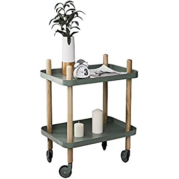 Amazon.com: Sofa Side Table with Wheels, Metal Tray End