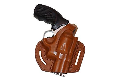 (Alis306 2 Slot Pancake OWB Brown Leather Holster Thumb Break Right Hand Fits 357 Magnum (Brown))