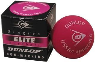 Dunlop Elite White Dot Fuschia - Singles Squash Ball by Dunlop