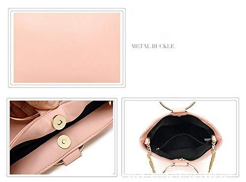 Tout Mode en 22 12 bandoulière croisés La Tirette fourre 19cm de Pink Cuir d'épaule Centrale Sacs Sacs Sacoche d'unité à PU LIGYM wtCIq5Ht