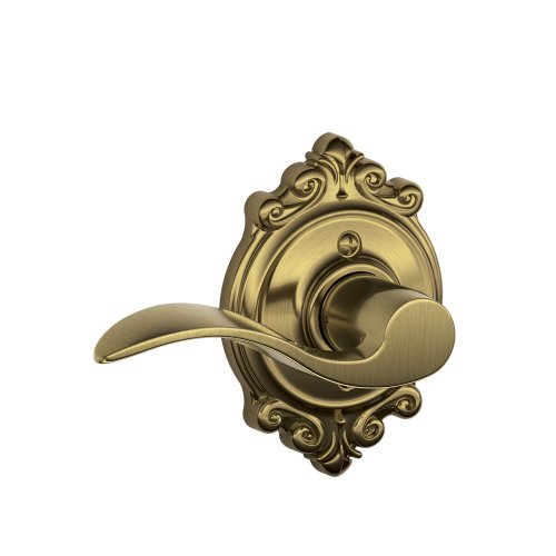 Brookshire Lever - Schlage Accent Lever with Brookshire Trim Non-Turning Lock in Antique Brass - Left Handed