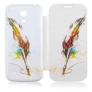 LZX Feather Pattern Leather Full Body Case for Samsung Galaxy S4 Mini I9190