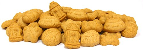 Honey S Bakery 630-Piece Favorite Things Peanut Butter Love Shaped Dog Cookies, 5-Pound, Natural