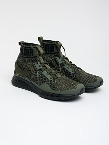 Puma - Ignite evoknit - zapatillas neutras - burnt olive/forest night/black burnt olive-forest night-puma black (189697-05)