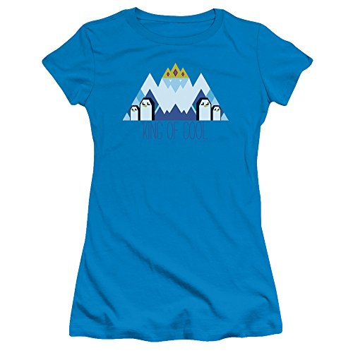 - Trevco Adventure Time Ice King Geo Juniors' Sheer Fitted T Shirt, Small Turquoise