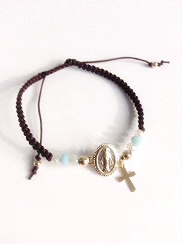 regalos-para-mujer-miraculous-medal-gold-plated-connector-adjustable-friendship-bracelet-virgen-la-m