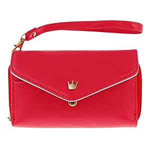 ZCL sold out Korean Style PU Leather Ladies Crown Clutch Wristlet Pouch Case for Samsung Galaxy S2 / S3