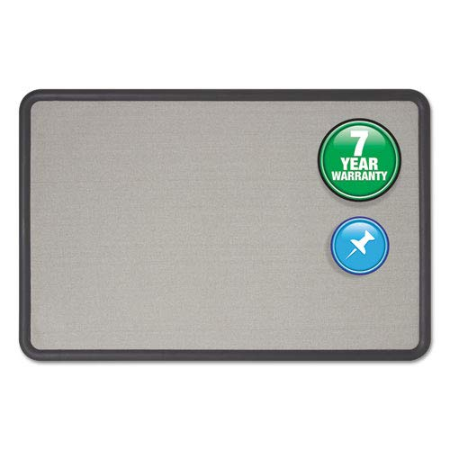 - Quartet 7693G Fabric Covered Tack Board, 36-Inch x24-Inch, Gray/Graphite Frame