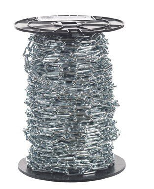 Campbell 0726827 Low Carbon Steel Straight Link Coil Chain on Reel, Zinc Plated, #2 Trade, 0.15