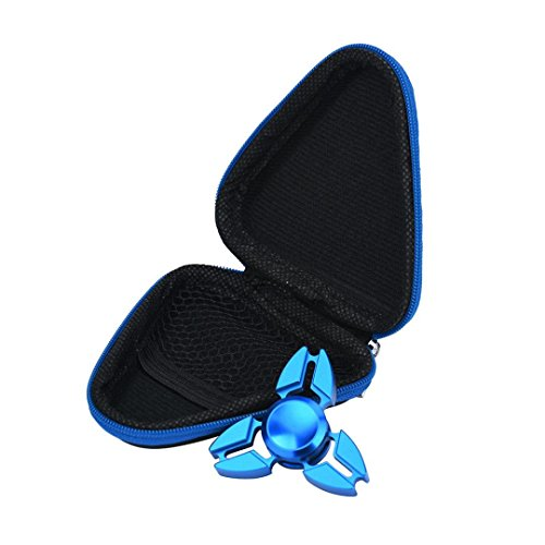 Fidget Spinner Case SMTSMT 2017 Gift Case For Fidget Spinner Triangle Finger Toy (Blue)