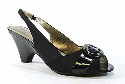 Circa Joan & David Women's Neera Dress Sandal, Black, 8.5 M US (Circa Joan David Sandals)